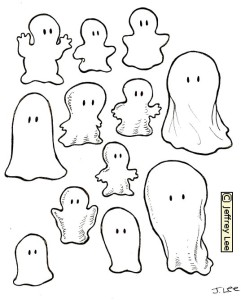 Design options for a plastic formed ghosts to appear on a pinball field via reflection...a scheme devised by John Trudeau, Gottlieb pinball designer.