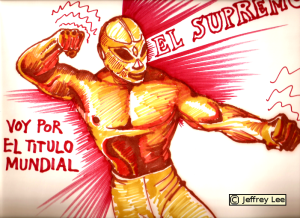 Marker--- from a Mexican wrestling magazine